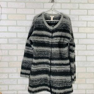 Sundance Catalog Striped Chunky Duster Cardigan